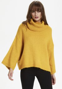 Soaked in Luxury - SLVIVIAN ROLLNECK - Trui - mineral yellow - 0