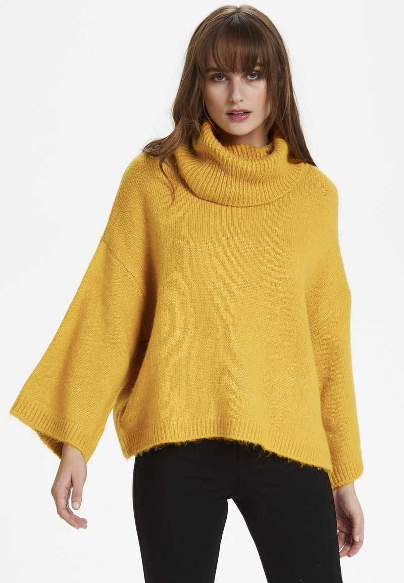Soaked in Luxury - SLVIVIAN ROLLNECK - Trui - mineral yellow