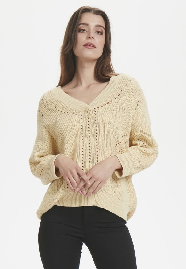 Soaked in Luxury - Neule - light yellow