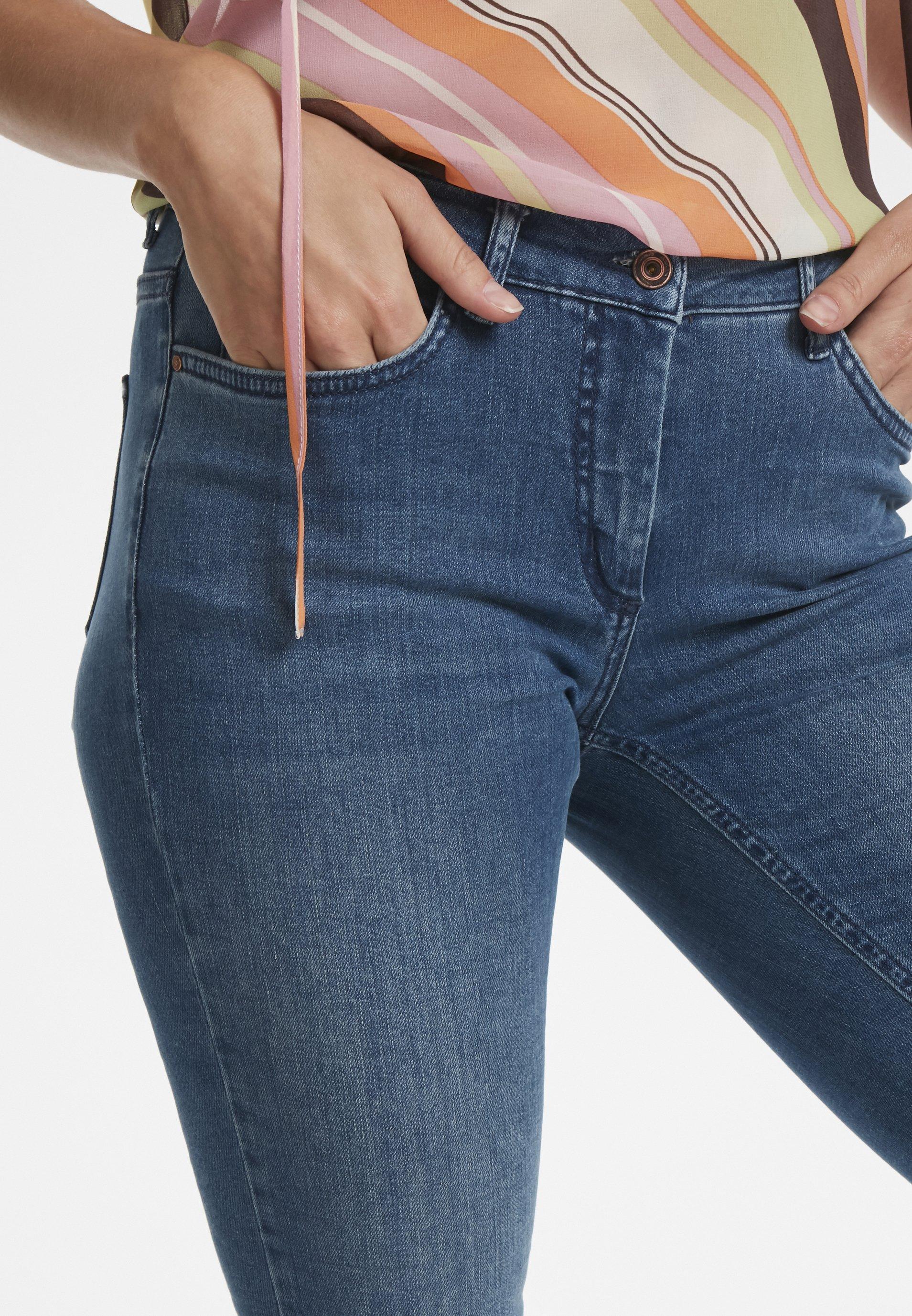 Soaked In Luxury Callas- Jeans Skinny Fit Blue Denim e8B9tyIA