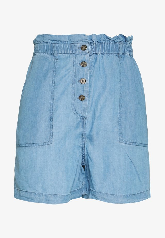 SLKESIA SHORTS - Szorty - medium blue denim