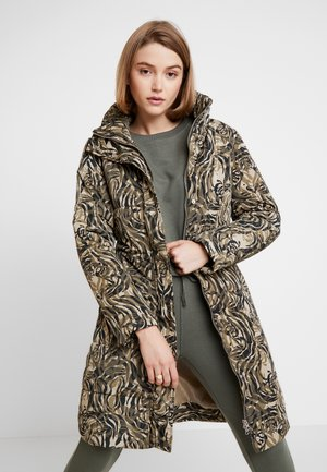 MALA PUFF COAT LONG PRINT - Winter coat - khaki