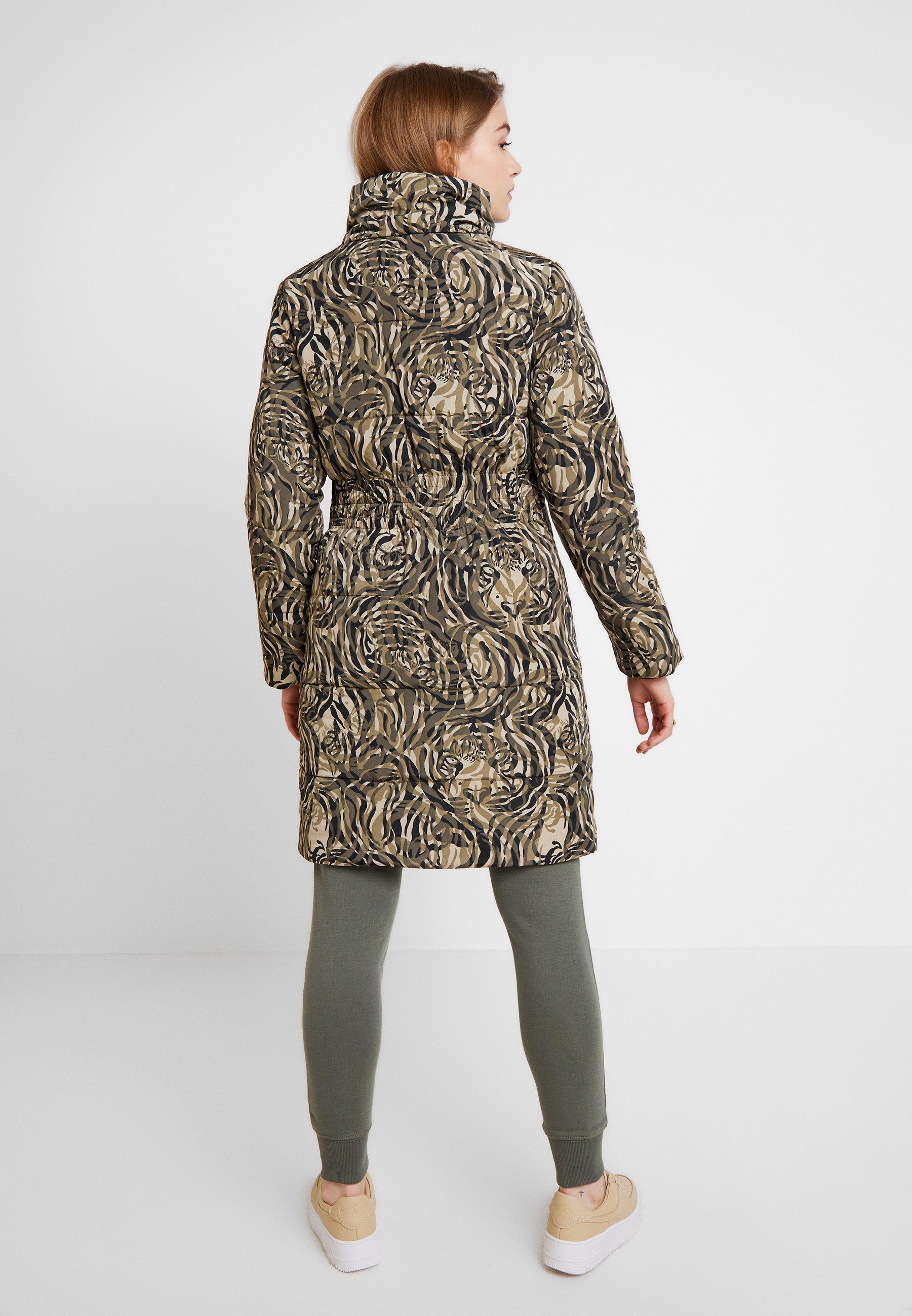 Khaki Coat Soaked Puff Long D'hiver Luxury PrintVeste In Mala SMGqVpUz