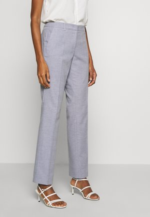 Trousers - blue panne