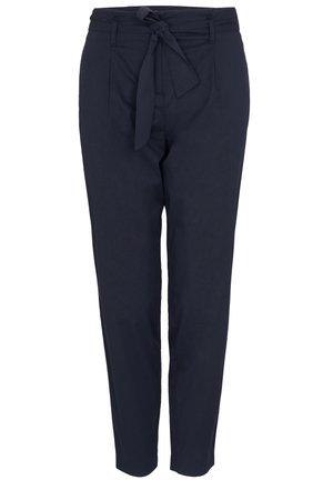 FLIESSENDE PAPERBAG - Trousers - navy