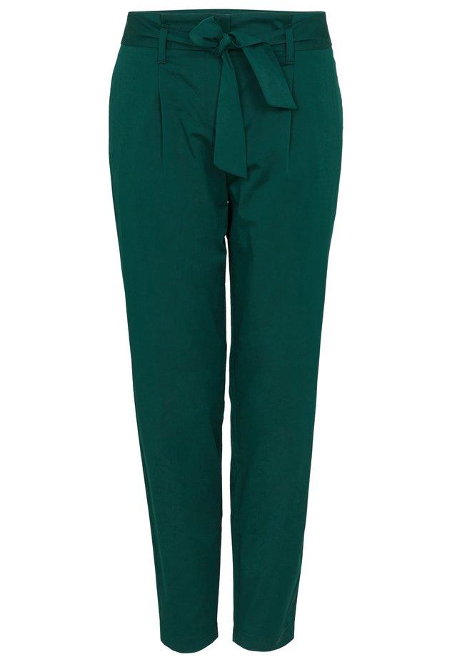 FLIESSENDE PAPERBAG - Trousers - dark green