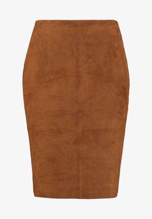 KURZ - Pencil skirt - winter hazelnut