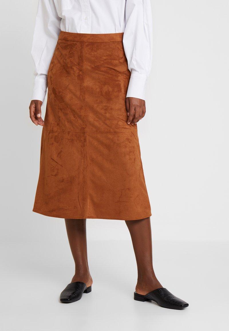 s.Oliver BLACK LABEL - A-snit nederdel/ A-formede nederdele - peanut cream