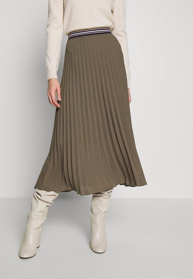 KURZ - Áčková sukně - dark olive