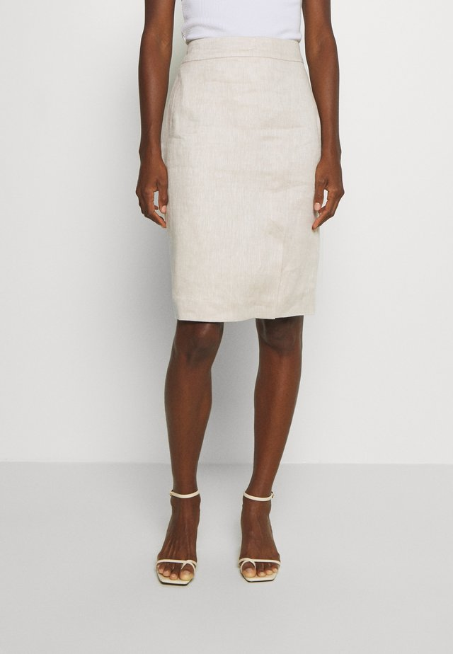 A-line skirt - sandy beig