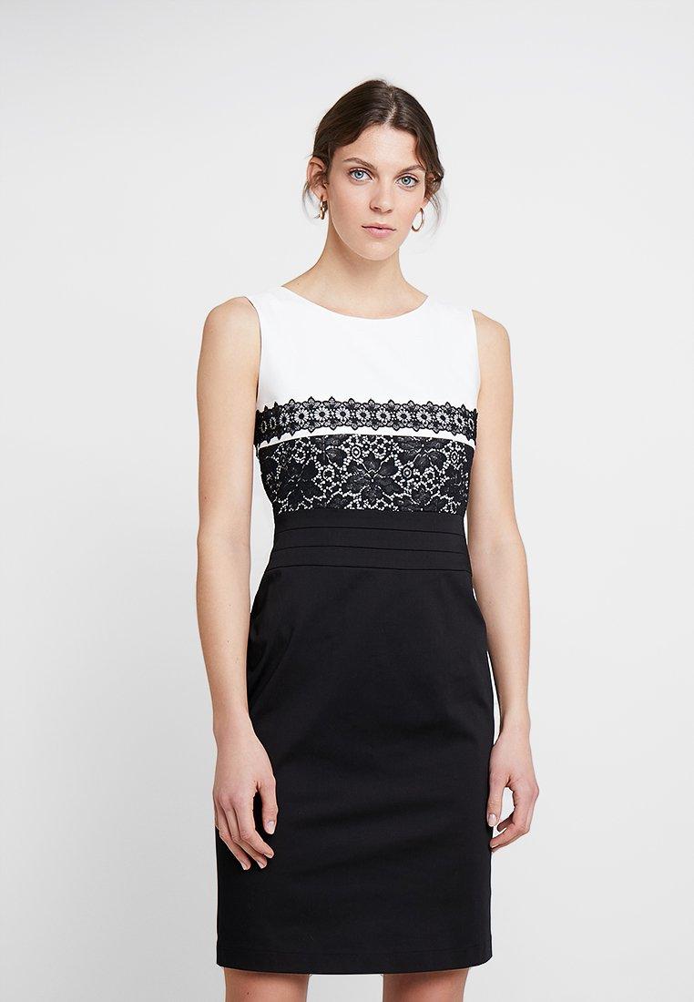 s.Oliver BLACK LABEL - KURZ - Cocktailkleid/festliches Kleid - black/white