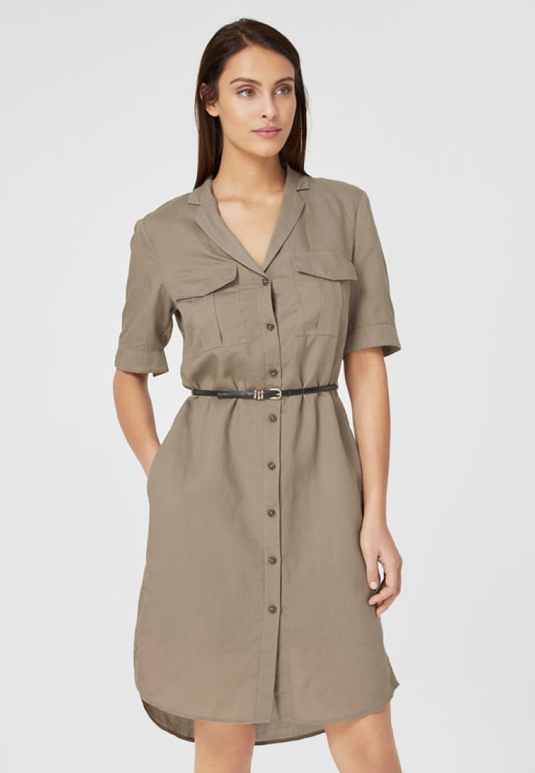 s.Oliver BLACK LABEL - Blusenkleid - light khaki