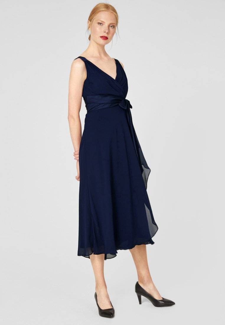 s.Oliver BLACK LABEL - MIT SATINSCHLEIFE - Cocktailkleid/festliches Kleid - funky blue