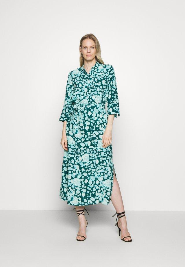 LANG - Skjortekjole - turquoise