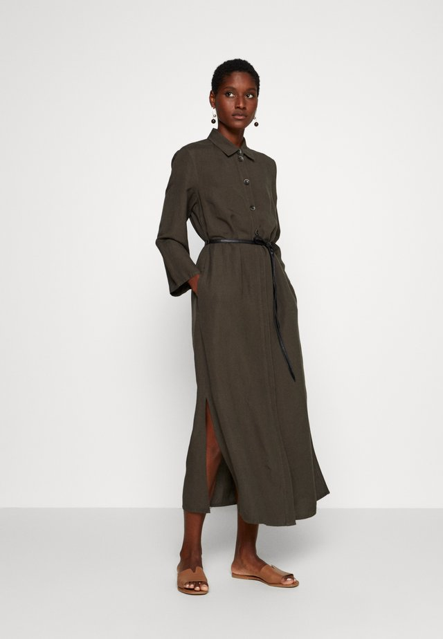 Robe longue - dark khaki green