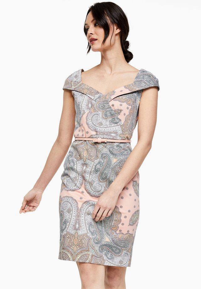 Etui-jurk - dusty rose paisley print