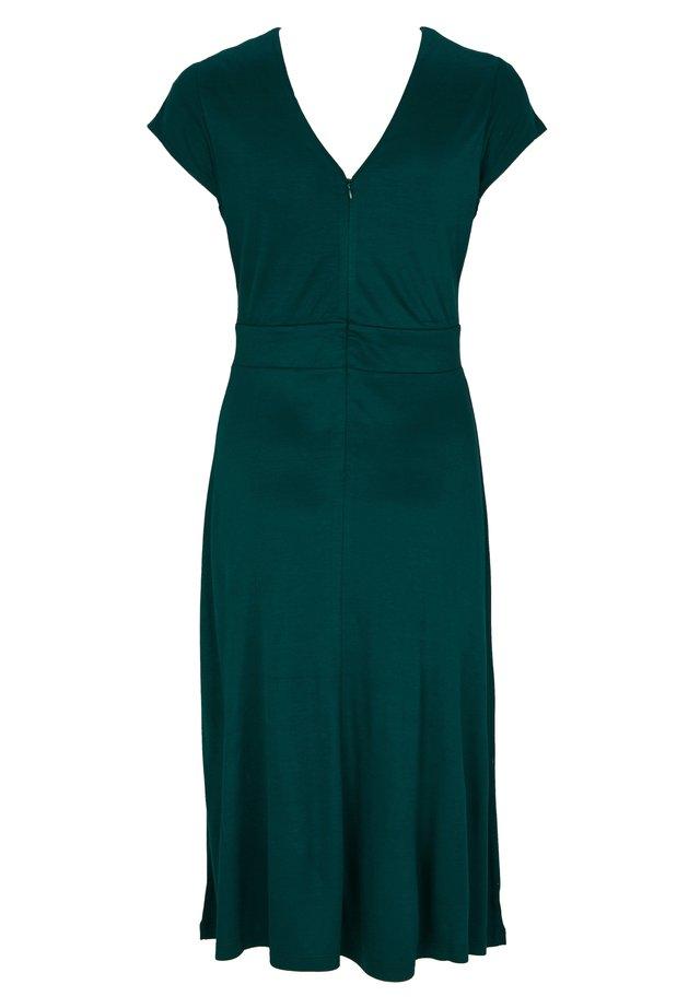 MIT RÜCKENAUSSCHNITT - Jerseykleid - dark green