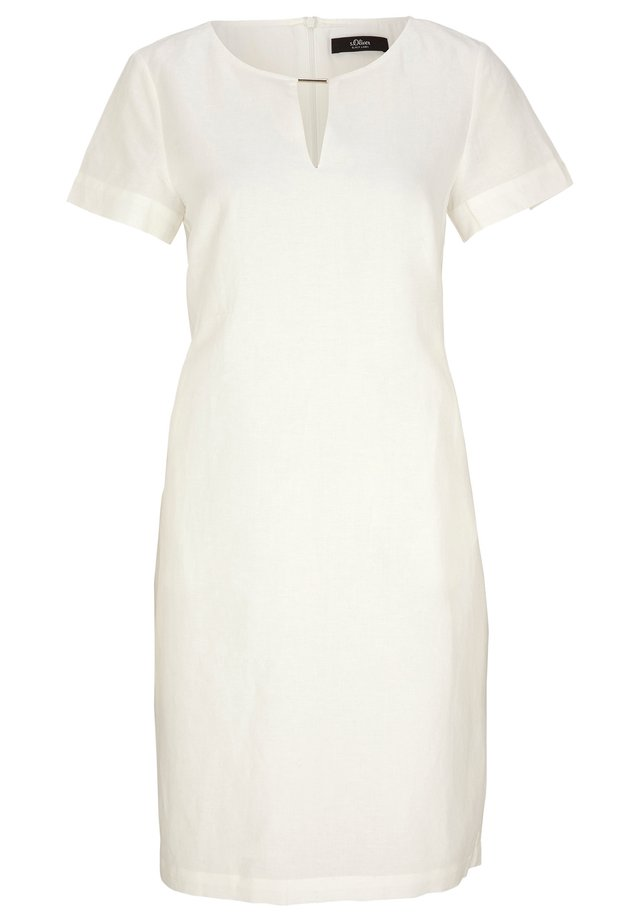 Korte jurk - soft white