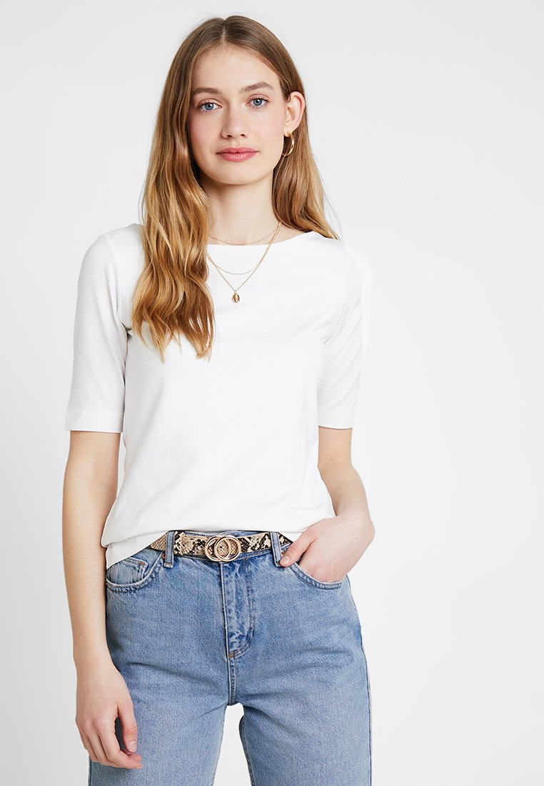 s.Oliver BLACK LABEL - KURZARM - T-Shirt basic - summer creme