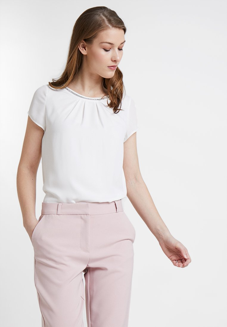 s.Oliver BLACK LABEL - KURZARM - Bluse - spring cream