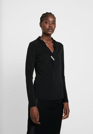 LANGARM - Bluse - forever black