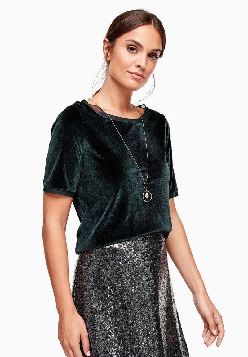 s.Oliver BLACK LABEL - T-shirt print - green