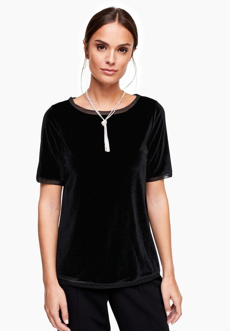 s.Oliver BLACK LABEL - T-shirt print - black