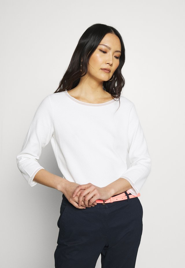 3/4 ARM - Strikpullover /Striktrøjer - soft white