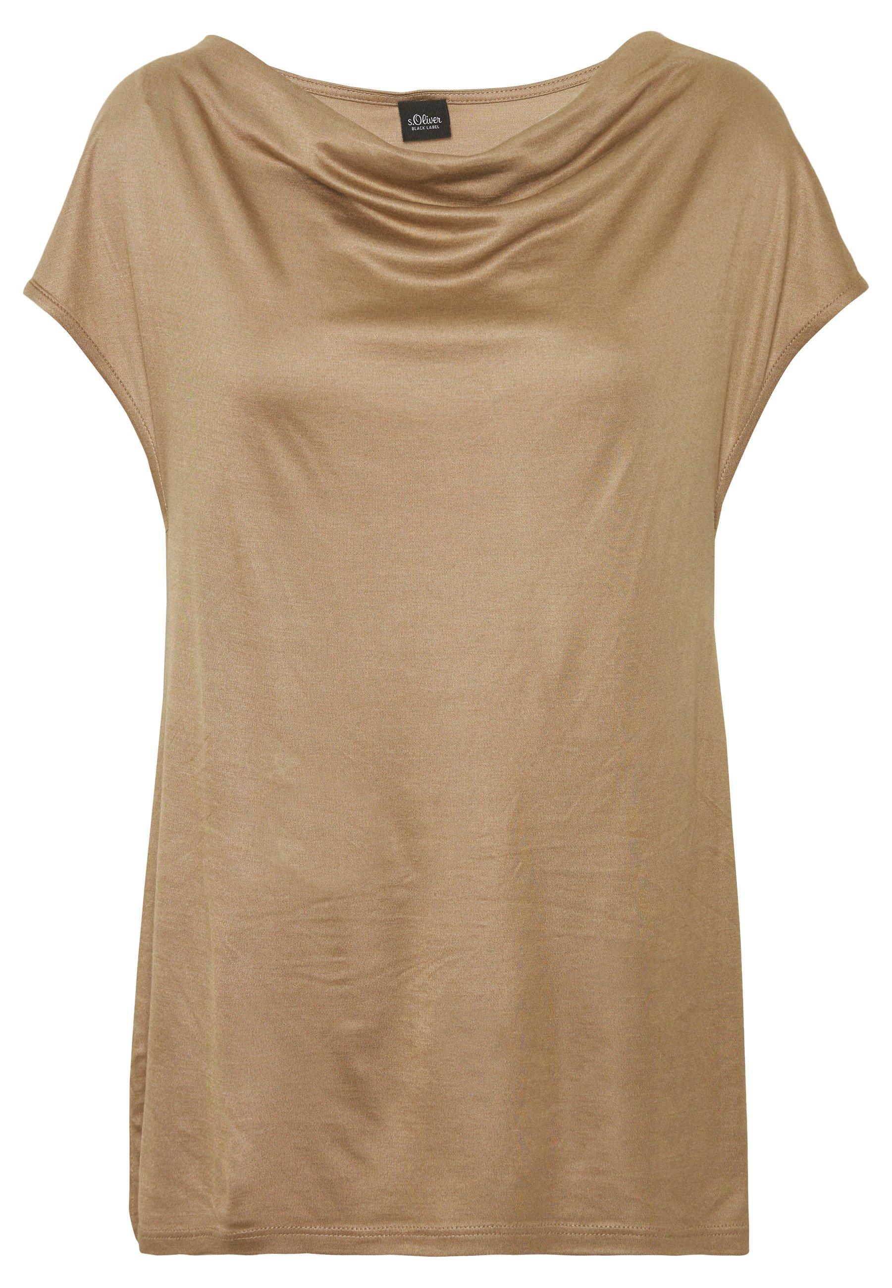 s.Oliver BLACK LABEL T-SHIRT - T-shirt basic - wet sand