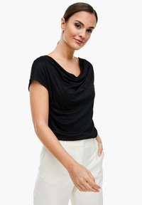 s.Oliver BLACK LABEL - T-SHIRT - Basic T-shirt - black - 0