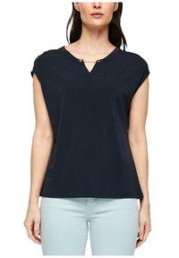 s.Oliver BLACK LABEL - KURZARM - Basic T-shirt - dark navy - 4