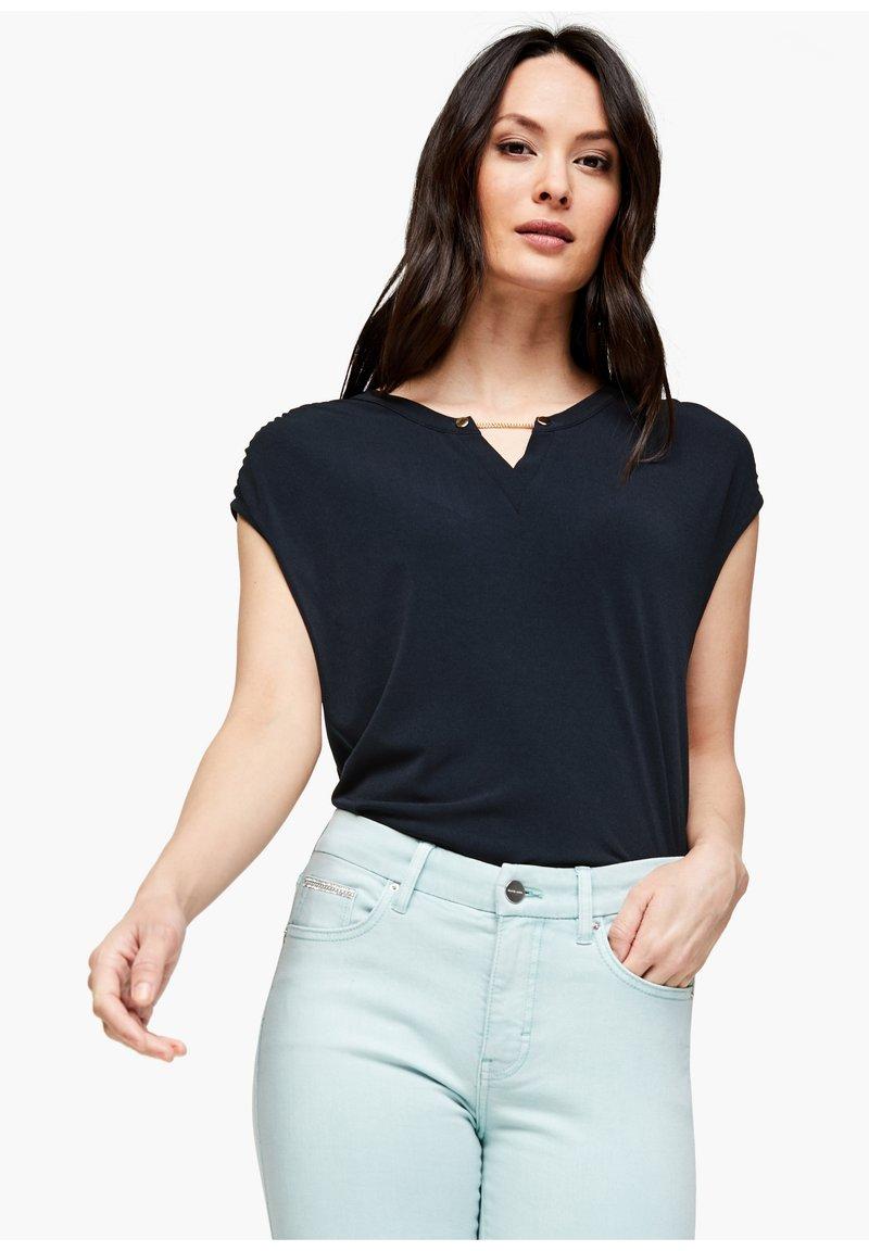 s.Oliver BLACK LABEL - KURZARM - Basic T-shirt - dark navy