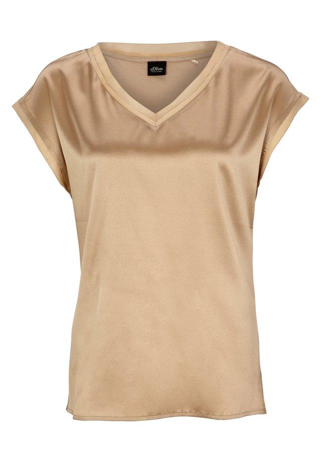 Bluse - sandy beige