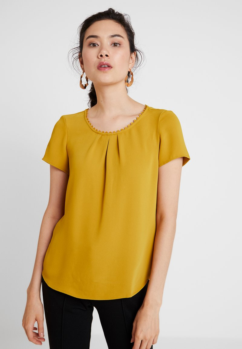 s.Oliver BLACK LABEL - KURZARM - Bluse - really mustard