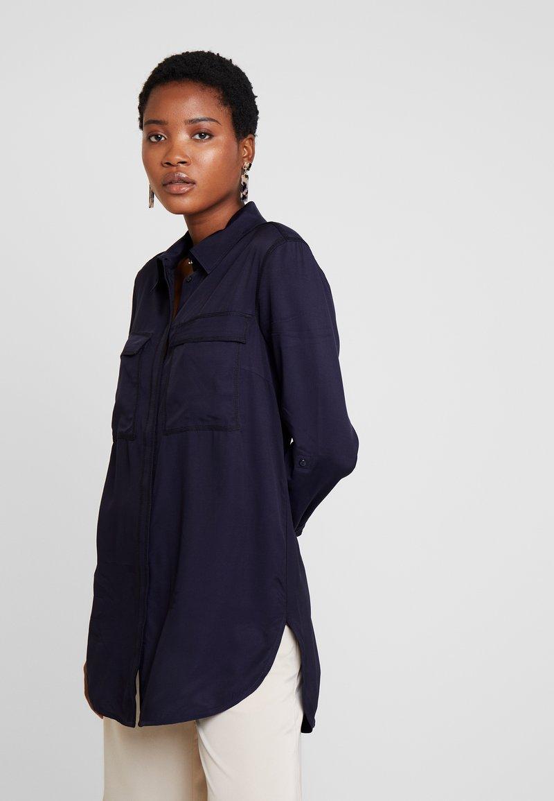 s.Oliver BLACK LABEL - LANGARM - Hemdbluse - luxury blue