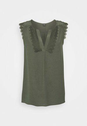 ÄRMELLOS - Bluse - dark khaki green