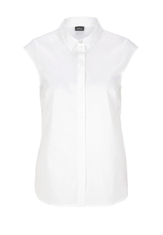 POPELINE - Hemdbluse - white