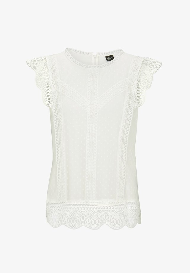 BLUSE ÄRMELLOS - Blouse - soft white