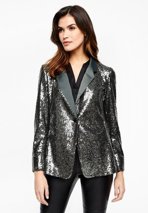 Blazer - dark green/silver