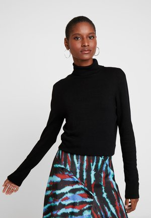 LANGARM - Stickad tröja - forever black
