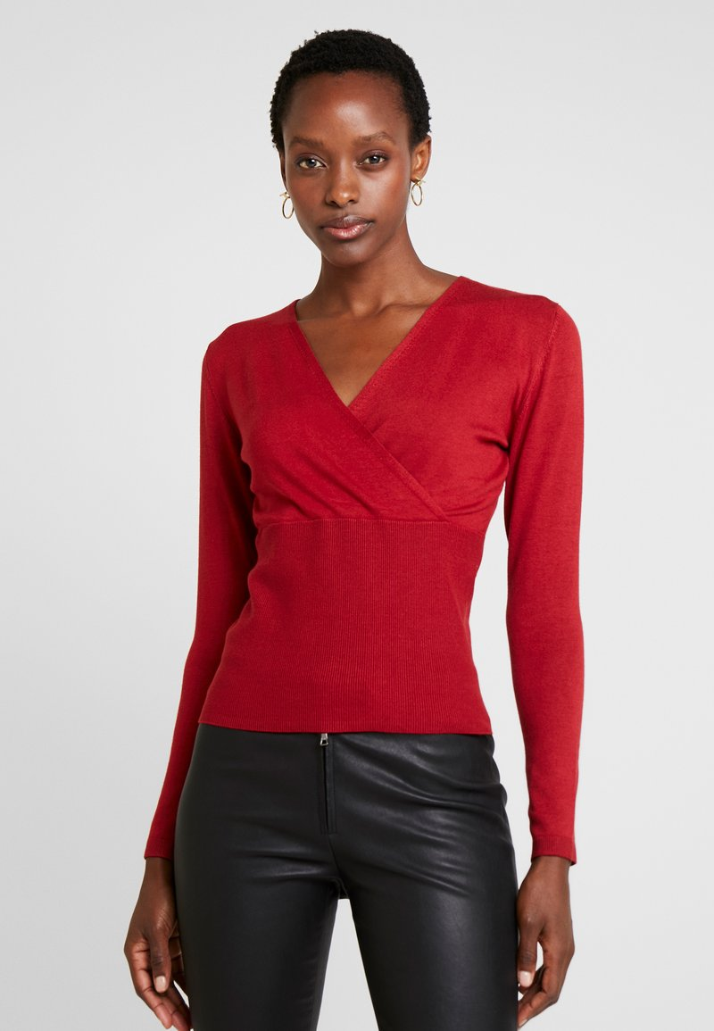 s.Oliver BLACK LABEL - Strickpullover - rio red