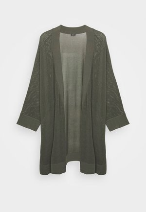 3/4 ARM - Cardigan - dark khaki green