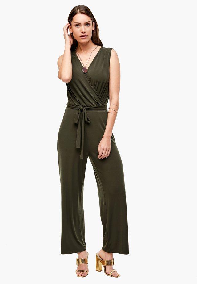 OVERALL LANG - Jumpsuit - dark khaki green