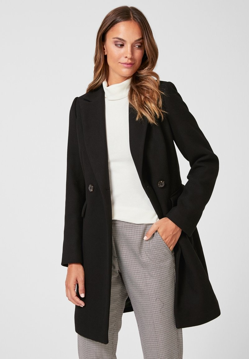 s.Oliver BLACK LABEL - MANTEL - Classic coat - black