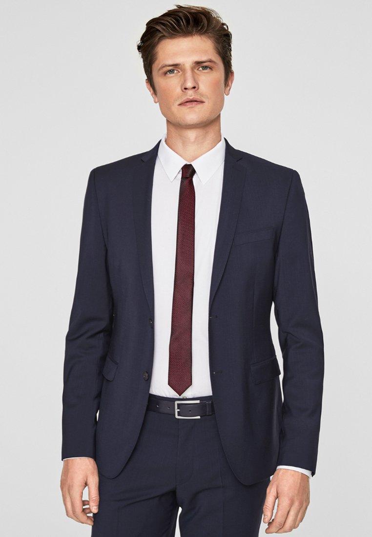 s.Oliver BLACK LABEL - CESANO SLIM SCHURWOLL-SAKKO - Blazer jacket - blue