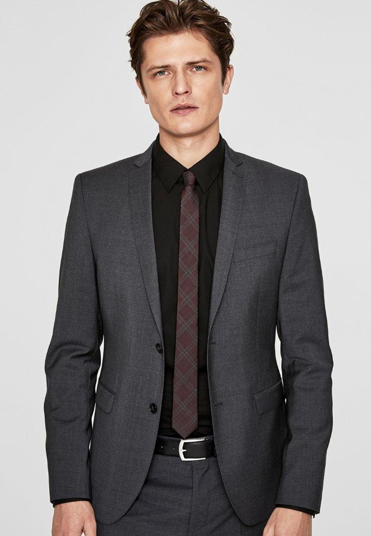 s.Oliver BLACK LABEL - CESANO SLIM SCHURWOLL-SAKKO - Blazer jacket - dark grey