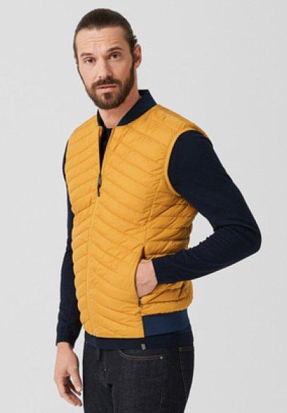 s.Oliver BLACK LABEL - Waistcoat - amber yellow