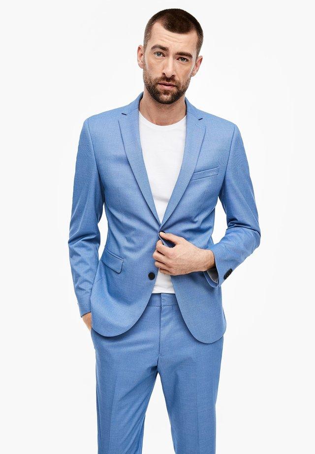 MIT WEBSTRUKTUR - Suit jacket - blue