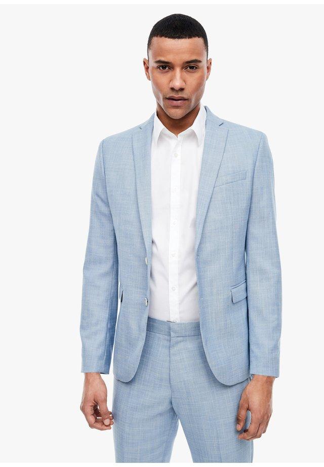 blazer - light blue melange