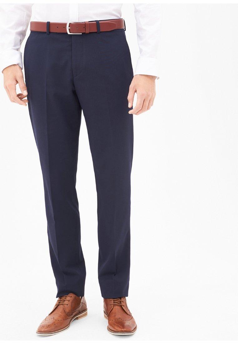 s.Oliver BLACK LABEL - Suit trousers - black blue